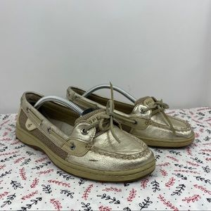 Sperry Top Sider Angelfish Gold Leather Boat Loaf